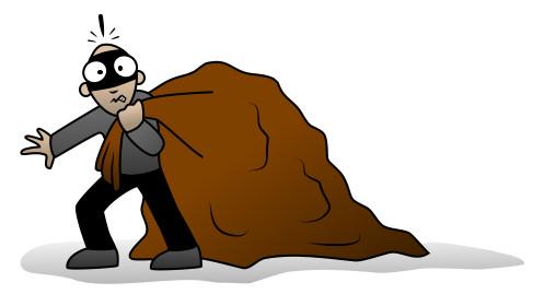 Burglar clipart cartoon. Free robber download clip