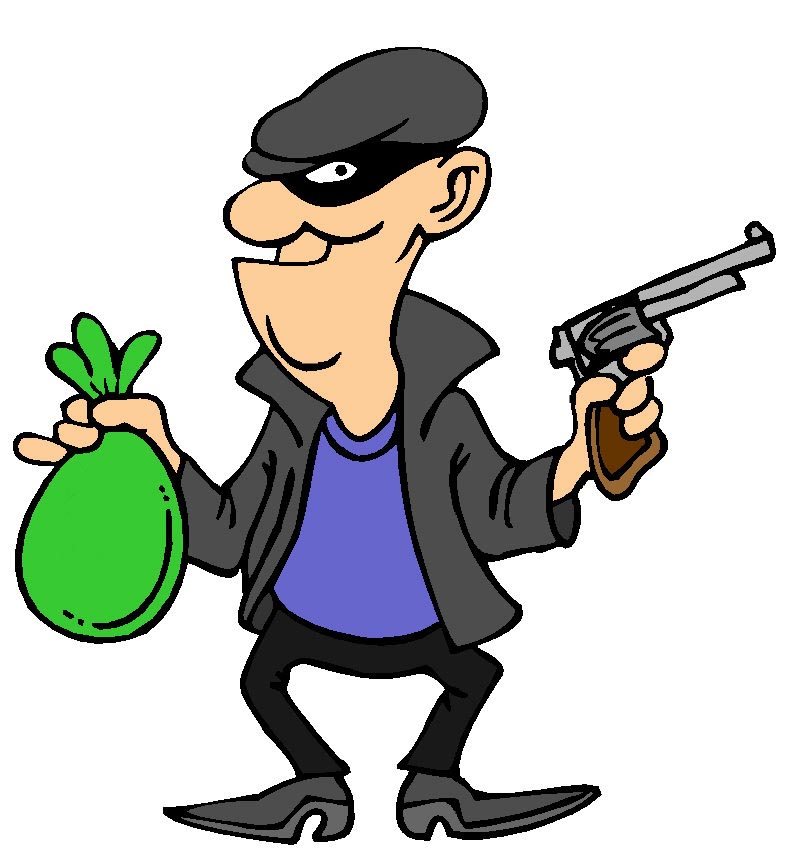 Scary robber pencil and. Burglar clipart cartoon