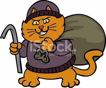 Stock vectors psd com. Burglar clipart cat burglar