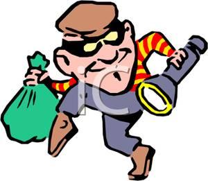 Picture a with bag. Burglar clipart cat burglar
