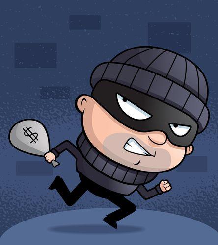 Burglar clipart character. Cartoon cops and robbers