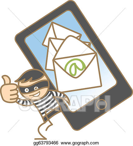 Vector illustration cartoon of. Burglar clipart character