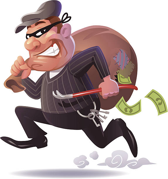 Swag pencil and in. Burglar clipart character