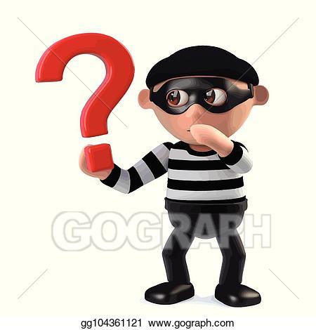 Burglar clipart character. Vector d funny cartoon