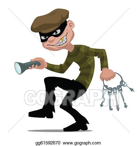 burglar clipart comic