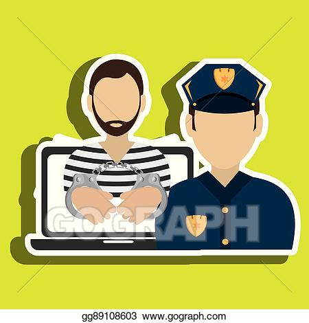 Burglar clipart criminal. Vector stock police design