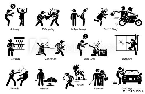 Burglar clipart criminal. Crime and pictogram depicts
