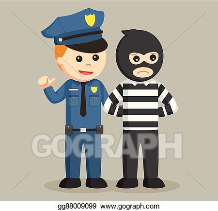 Clip art vector police. Burglar clipart female