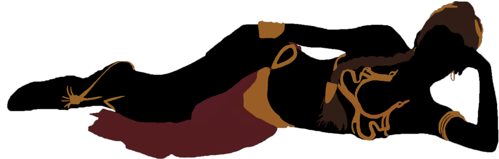 Princess leia slave silhouette. Criminal clipart fugitive