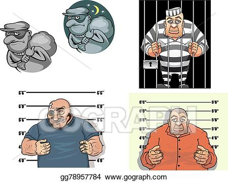 Burglar clipart gangster. Eps illustration cartoon thief