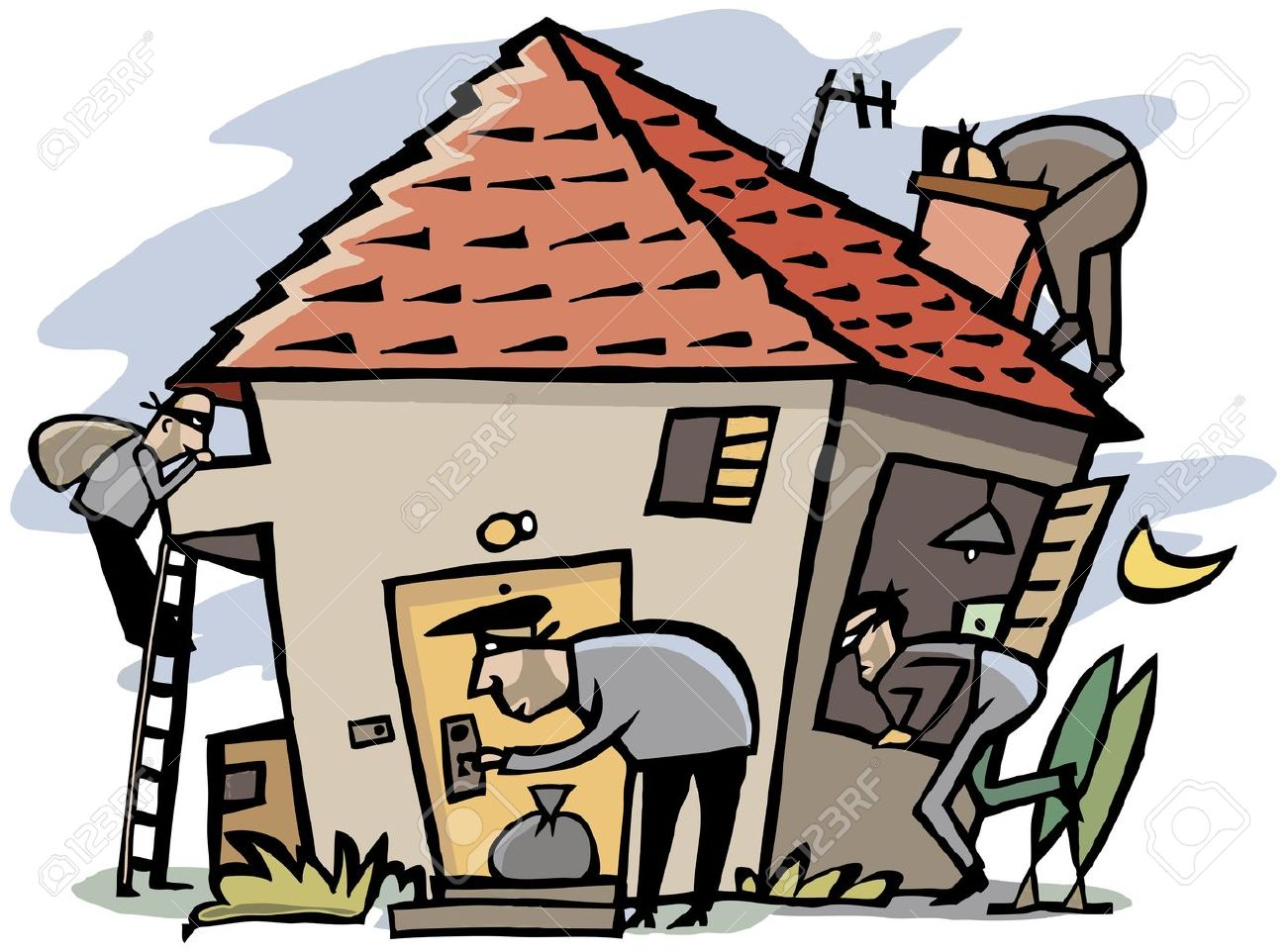 Burglar clipart in house. Cartoon robber free download