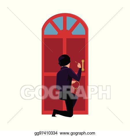 burglar clipart in house
