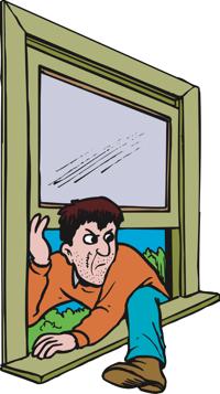 Burglar clipart in house. Thief