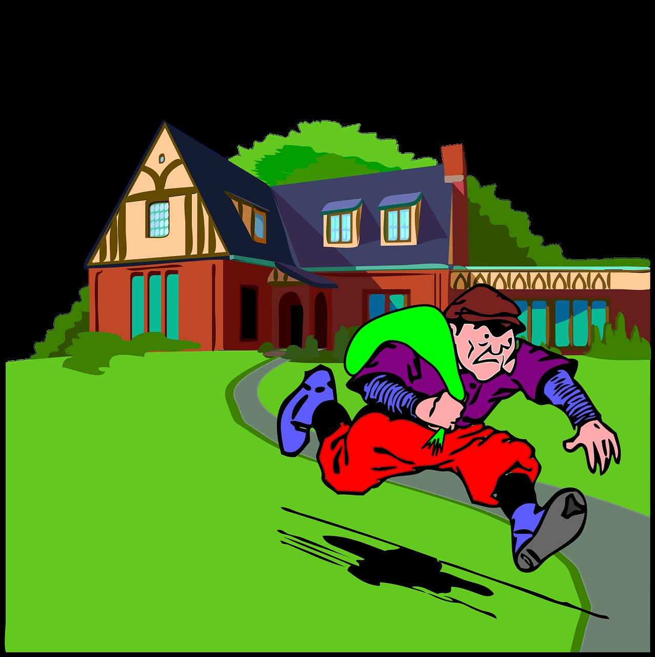 home defense tactics. Burglar clipart intruder