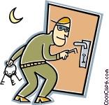 Burglar clipart intruder. Vector clip art sample