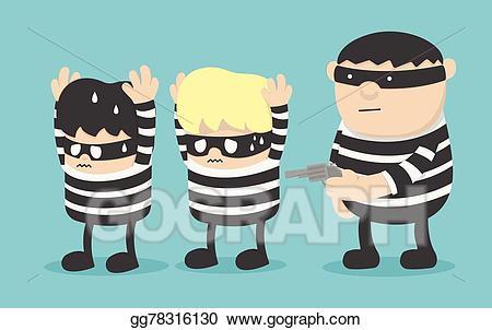 Vector stock thief robber. Burglar clipart kidnapper