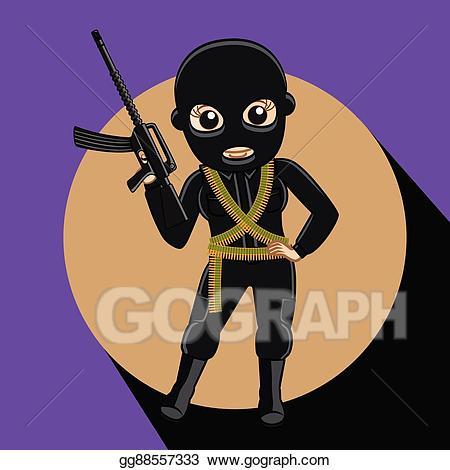 Burglar clipart kidnapper. Eps illustration female robber