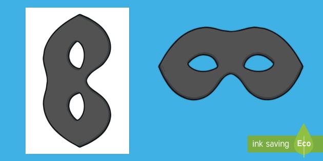 Burglar clipart mask. Role play masks bill