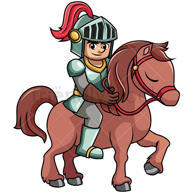 Burglar clipart medieval. Iron knight petting horse