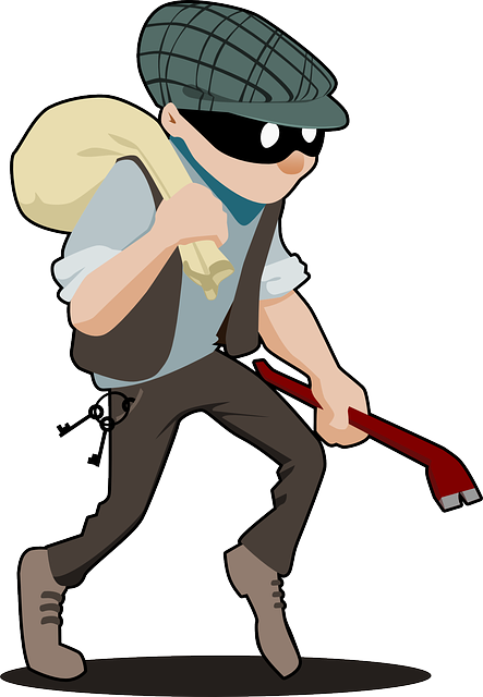 Property crime is down. Burglar clipart offender