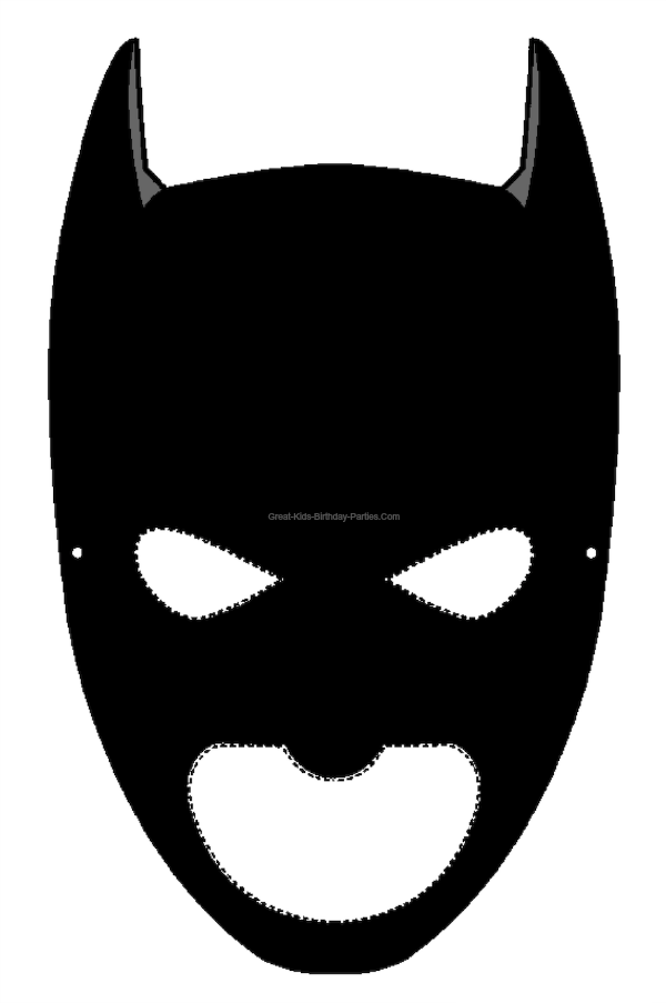 Modern zorro template component. Mask clipart printable
