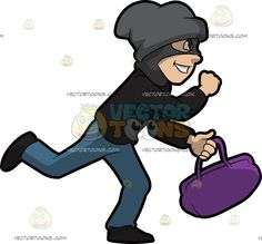 Robber vector art adult. Burglar clipart old fashioned