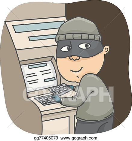 Burglar clipart rob. Vector art man thief