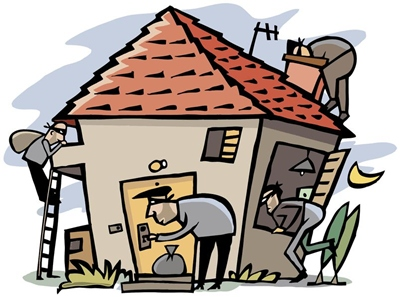 Proof your this holidays. Burglar clipart safe home