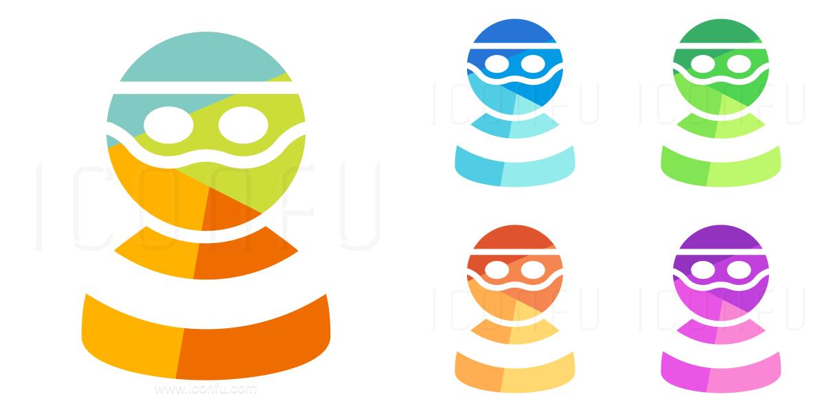 Burglar clipart thug. Criminal icon colored style