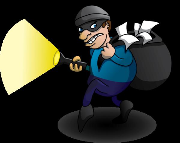 Illustration . Burglar clipart transparent
