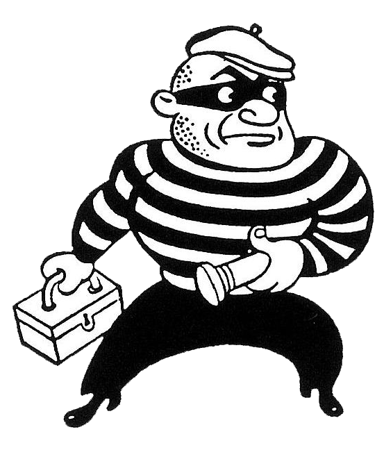 Burglar clipart transparent. Residential security systems be