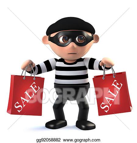 Burglar clipart two. Drawing d funny cartoon