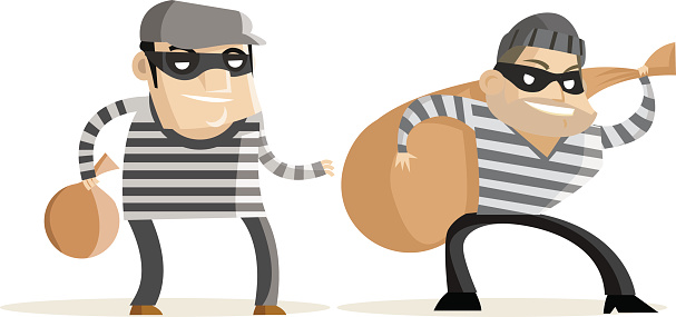 Free bank robber cliparts. Burglar clipart two
