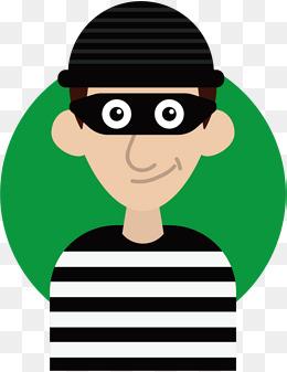 Burglar clipart vector. Thief png vectors psd