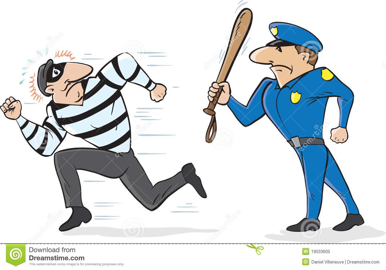 Burglar clipart vector. Police pencil and in