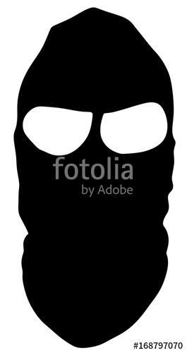Symbol of a bandit. Burglar clipart vector