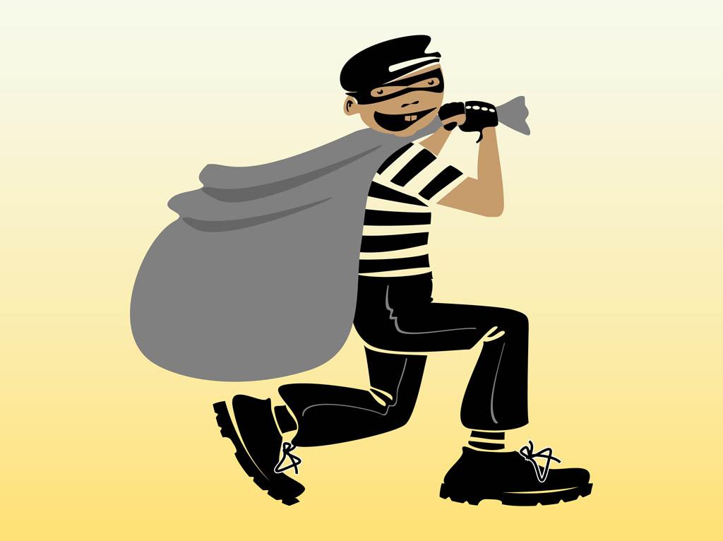 Free cartoon robber download. Burglar clipart vector