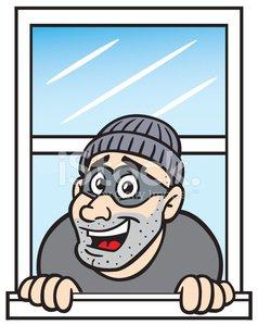 Cartoon in premium clipartlogo. Burglar clipart window