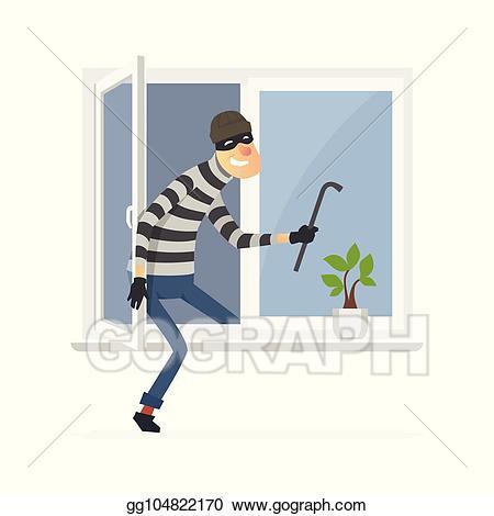 burglar clipart window