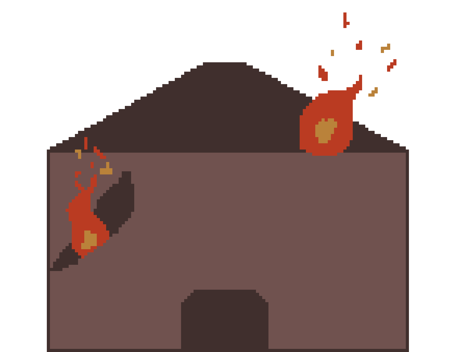 Burning house png. Background pixel art maker