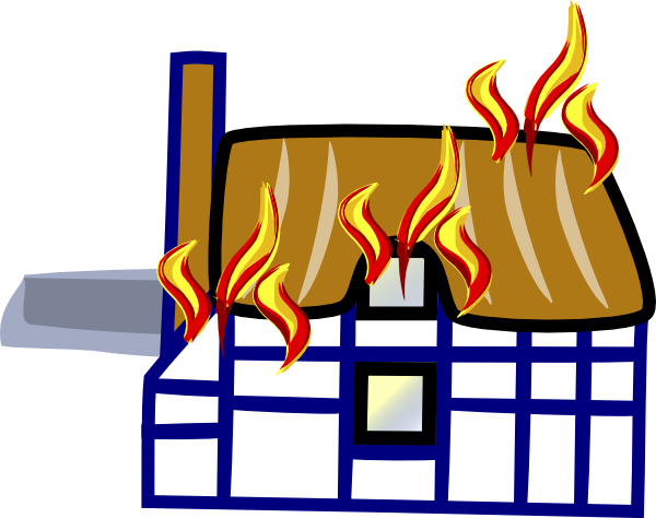 Burning house png. Clipart