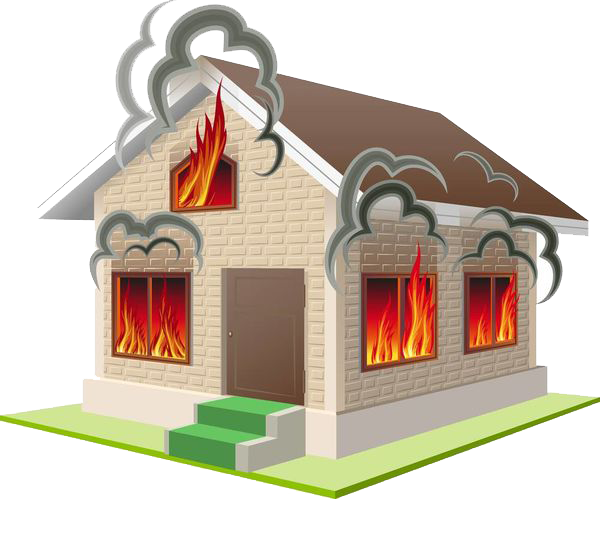 Burning house png. A transprent free download
