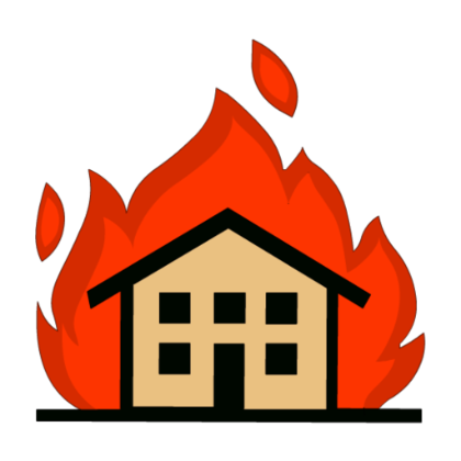 Burning house png. On fire transparent images
