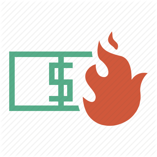 Burning money png. Large svg icons part