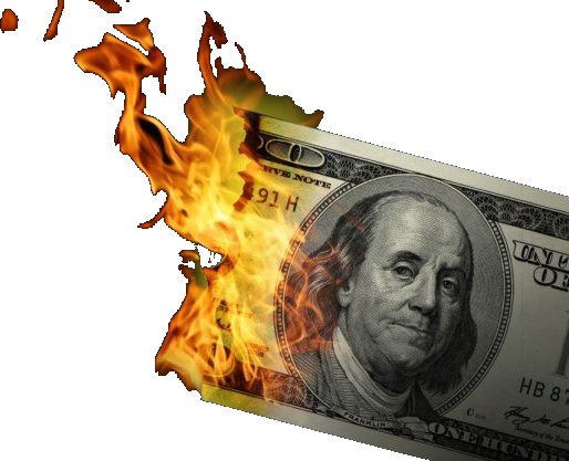 Major bank admits bitcoin. Burning money png