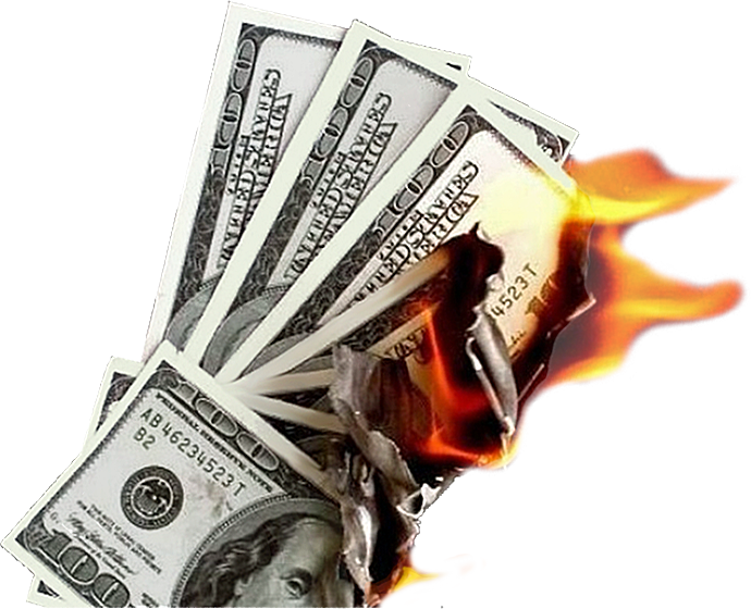 Burning money png. Psd official psds