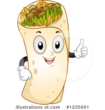 Illustration by bnp design. Burrito clipart