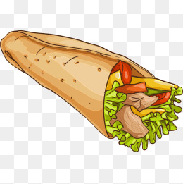 Png vectors psd and. Burrito clipart