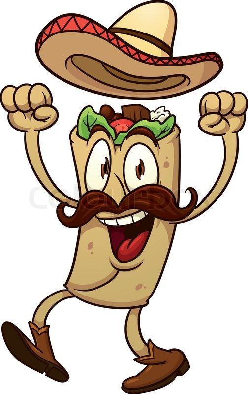 Burrito clipart animated. Hi res stock vector