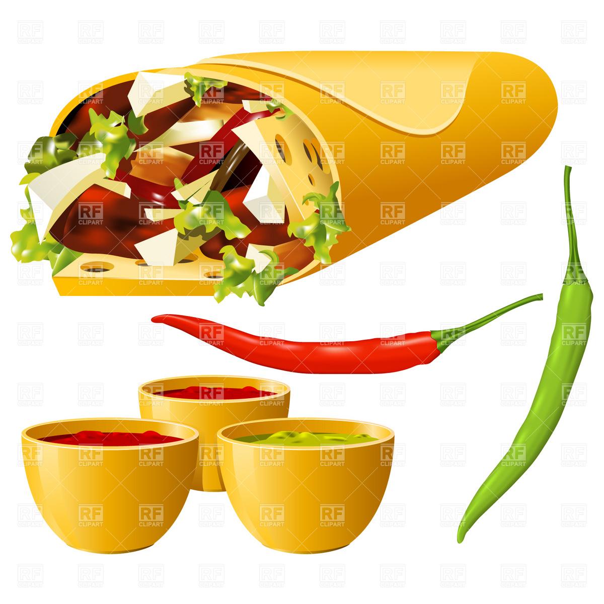 Burrito clipart animated. Mexican food free clip